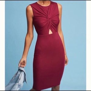 Bailey 44 Dark Red Wine Body Con Mini Dress